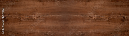 Foto old brown rustic dark wooden oak texture - wood background panorama long banner