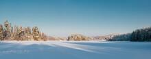 Frozen Winter Landscape Panorama