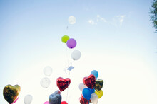 Colourful Balloons Flying Up I...
