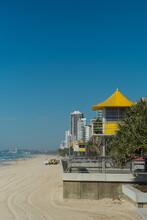 Life Guard Hut On Famous Surfers Paradise Beach