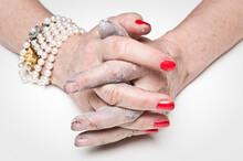 Rich Versus Poor Female Hand