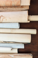 A Row Of Antique Scrolls On A ...