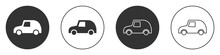 Black Toy Car Icon Isolated On...