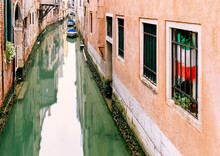 Venice Canal At Low Tide