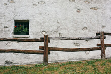 Window Of A Mountain Cabin