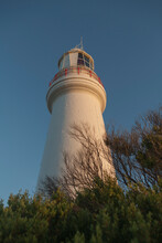 Historic Lighthouse From Low Angle