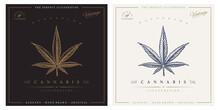 Cannabis Vintage Logo Engravin...