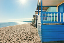 Blue Bathing Hut At Mt Martha,...