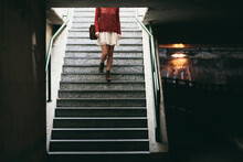 Young Woman In An Underpass