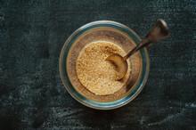 Silver Spoon In A Sugar Contai...