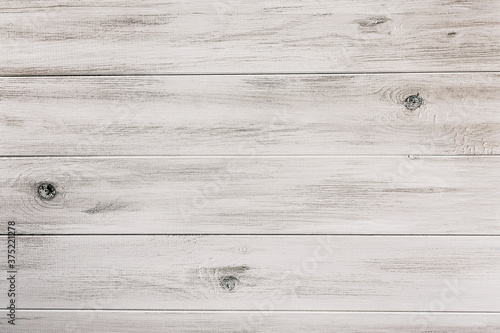 Rustic White Wooden Background - 375221278