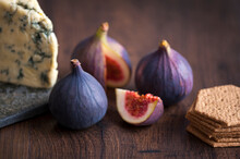 Fresh Figs, Stilton Cheese And...