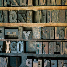Letter Blocks For Typesetting