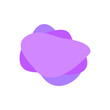 Violet blob icon. Vector 3d gradient geometric spot for banners and flyers. Geometric shapes with dynamic colors. Abstract spot with elements for trendy vibrant color design.