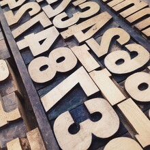 Vintage Wooden Letter Printing Blocks