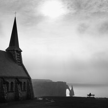 Chalk Cliffs And Old Church In...