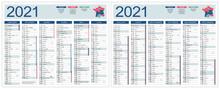 CALENDRIER 2021 Modifiable (ba...