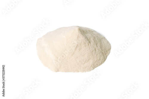 Photo Agar-agar powder isolated on white background