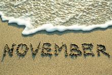 November Inscription On The Sa...