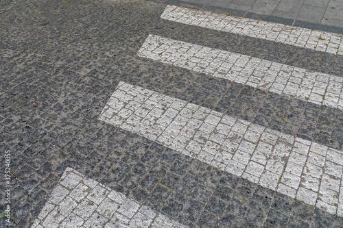 Zebra Crossing Cobblestones Wallpaper Mural