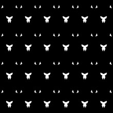 Seamless Pattern With Bows, Tr...