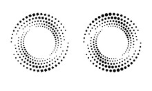 Halftone Round As Icon Or Back...
