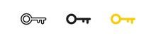 Old Door Key, Simple Icon Set....