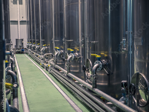 Olive oil factory, Olive Production, tank. Food automation
