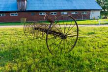 Horse Driven Hay Rake. Hay Rak...