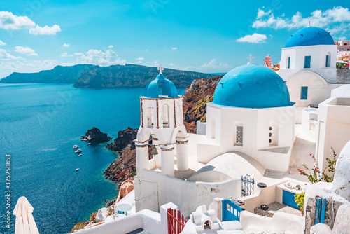 Tela Greece island of Santorini, famous Europe travel destination