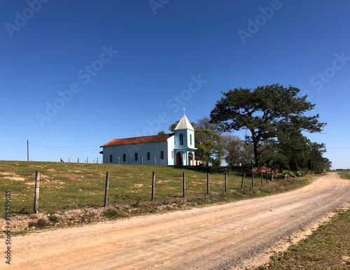 Small church in a village in the interior of Brazil #375259035