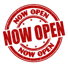 Now Open Sign Or Stamp