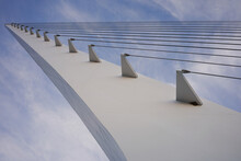 Architectural Details Of The Sundial Bridge At Turtle Bay In Redding, California, At Dusk.