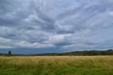 green grass and blue sky, sky, landscape, field, grass, nature,