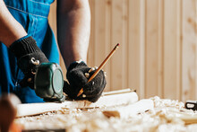 CLose Up Of The Carpenter With...