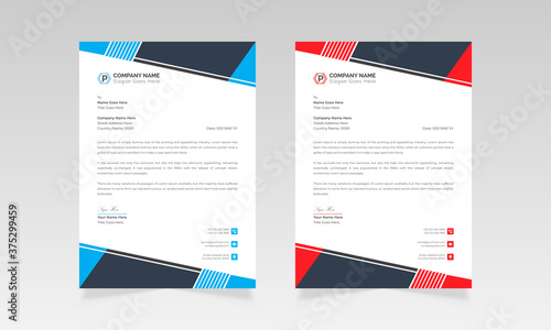 Stampa su Tela Modern style business letterhead vector design