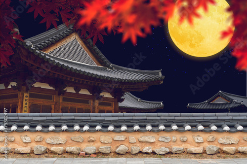 Korean traditional culture festival greeting background Slika na platnu