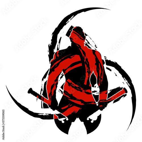 Samurai_Silhouette_0001 Canvas Print
