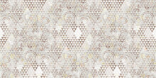 Vintage Background With Pixel Lace Seamless Pattern