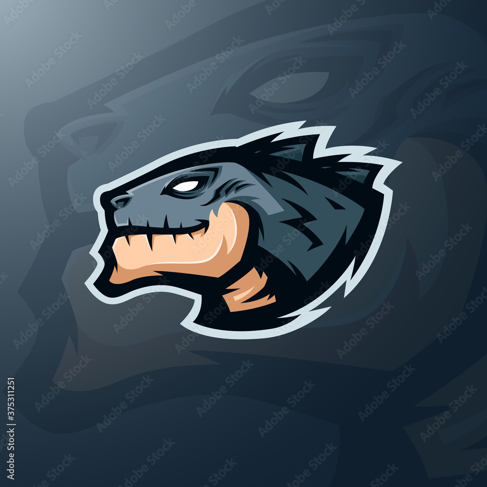 Fototapeta mascot head of monster for sports or esports team logo