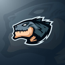 Mascot Head Of Monster For Sports Or Esports Team Logo