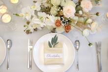 Wedding Table Setting With Flo...