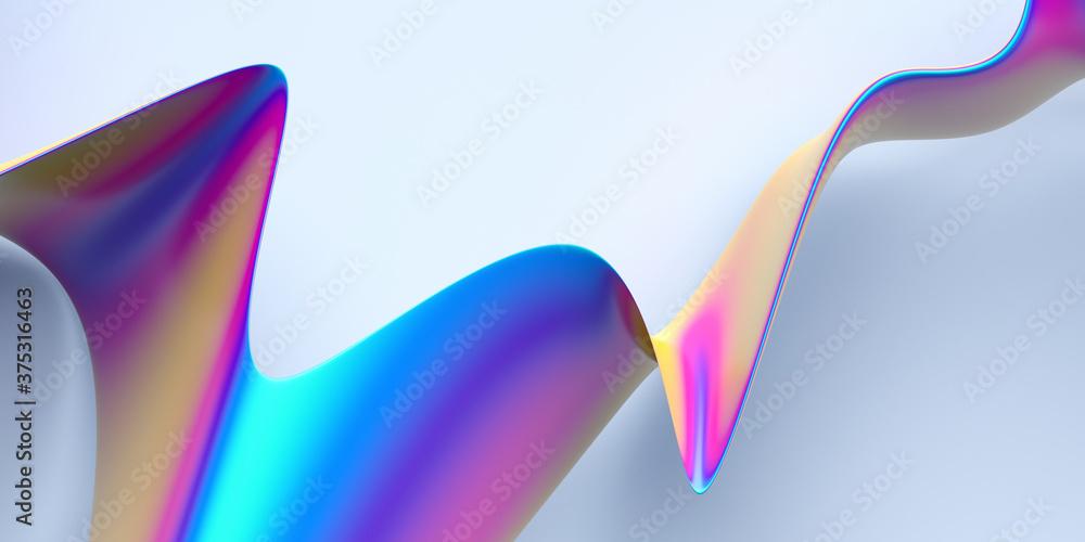 Abstract 3d render, background design, modern illustration