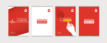 Poster Templates Set For Blood Donation Campaign
