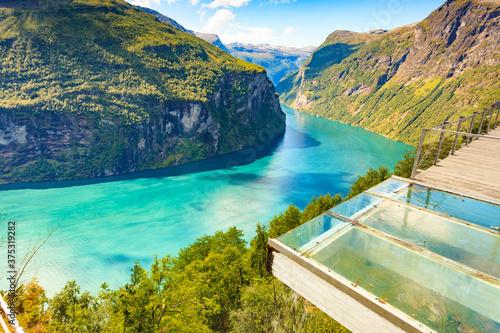 Obraz na plátně Geiranger fjord in Norway