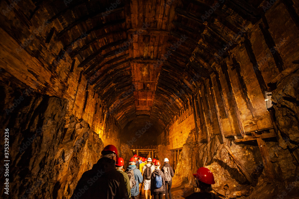 Fototapeta Kopalnia górnictwo podziemie przemysł sztolnia