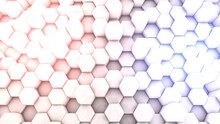 Pink Blue Hexagon Background