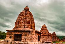Kadasiddeshwara Temple Pattadakal Breathtaking Stone Art From Different Angle With Dramatic Sky