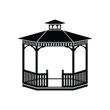 Gazebo Icon, Vector Illustration