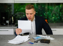 Man Reading Notice Regarding L...